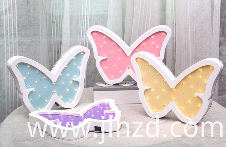 Cartoon Butterfly Led Wall Lamp