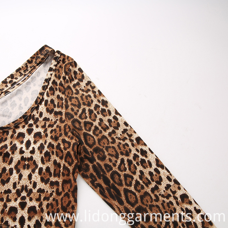 Women Leopard Print One-piece