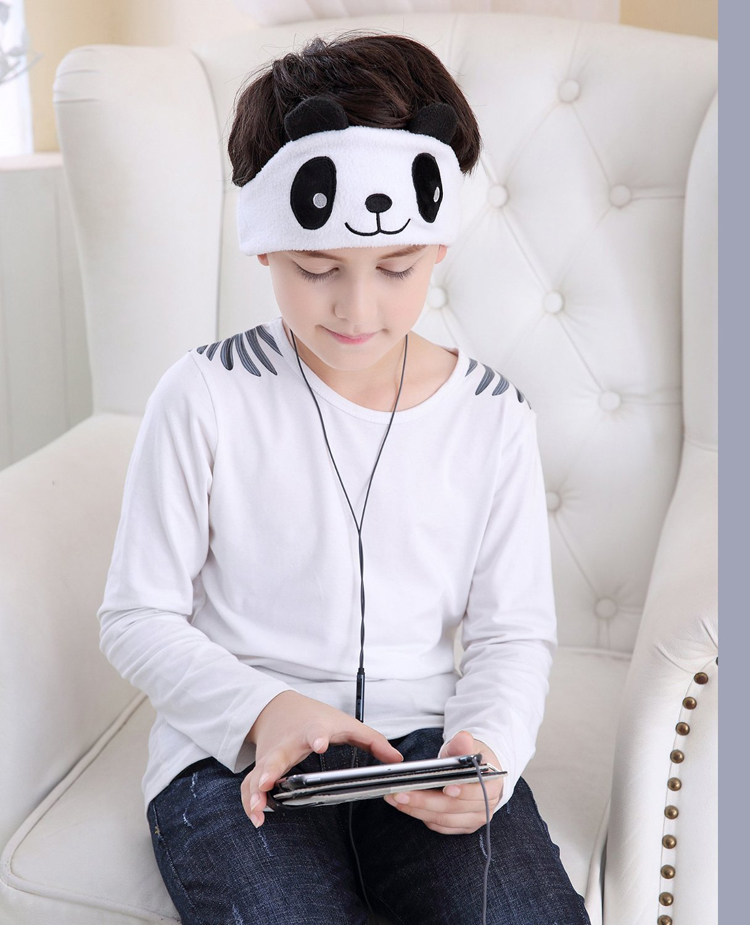 Panda design sleep headphone for kids
