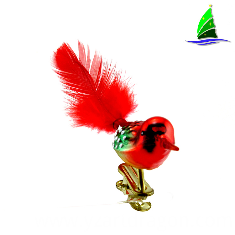Red Bird Christmas Ornaments