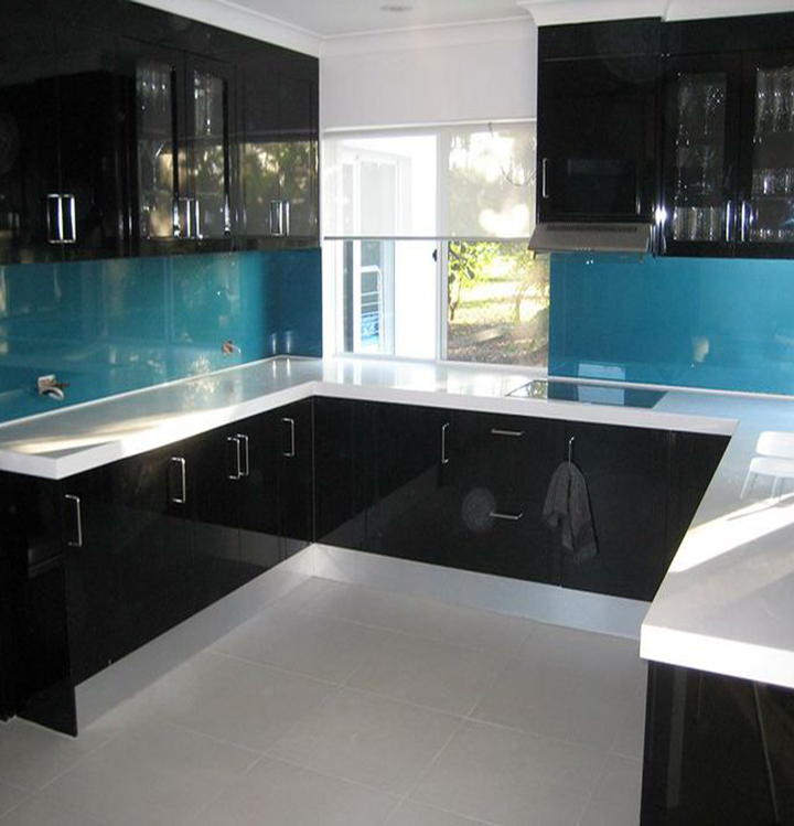 toughened kitchen backsplash Glass