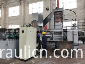 Y83W-630 Steel Scissel Chip Horizontal Briquette Machine for Recycling