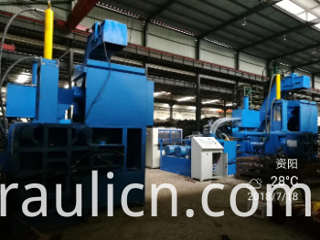 Y83W-250 Horizontal Ferrous Non-Ferrous Waste Metal Briquette Recycling Machine