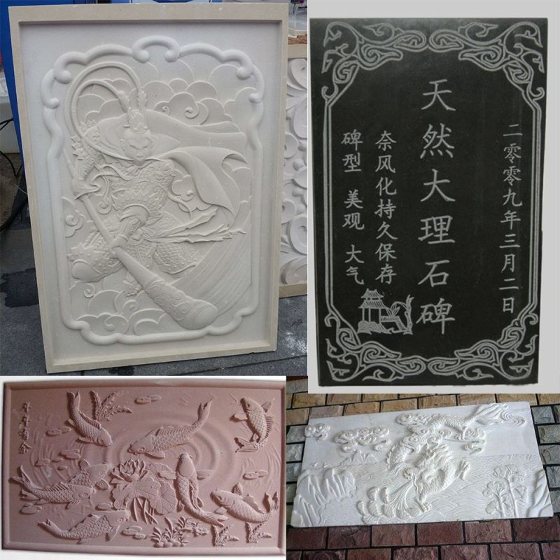 CNC Machine for Marble Engraving 3D Relief