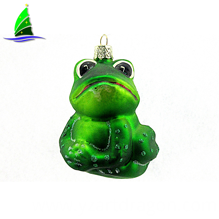 Frog Shaped Glass Ornaments