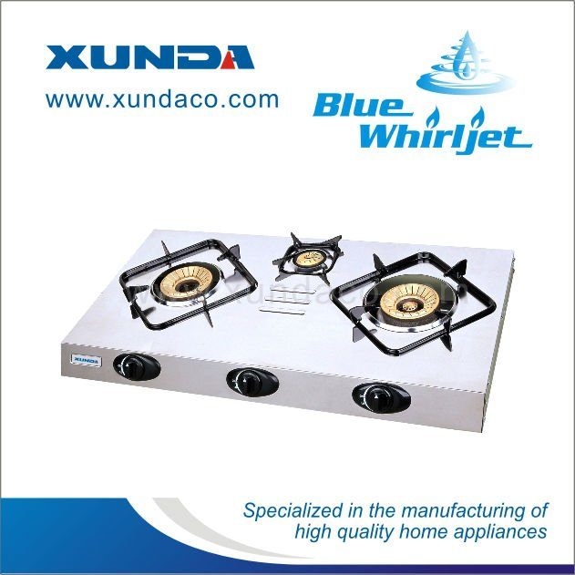 Stainless Steel 2 Burners Gas Stove