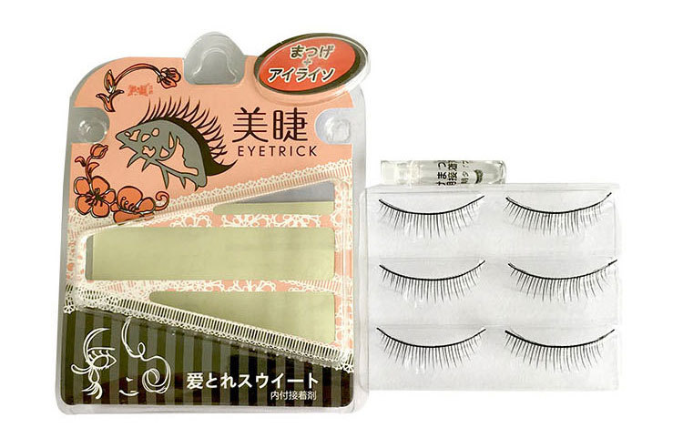 3 pairs False Eyelashes Mink with glue