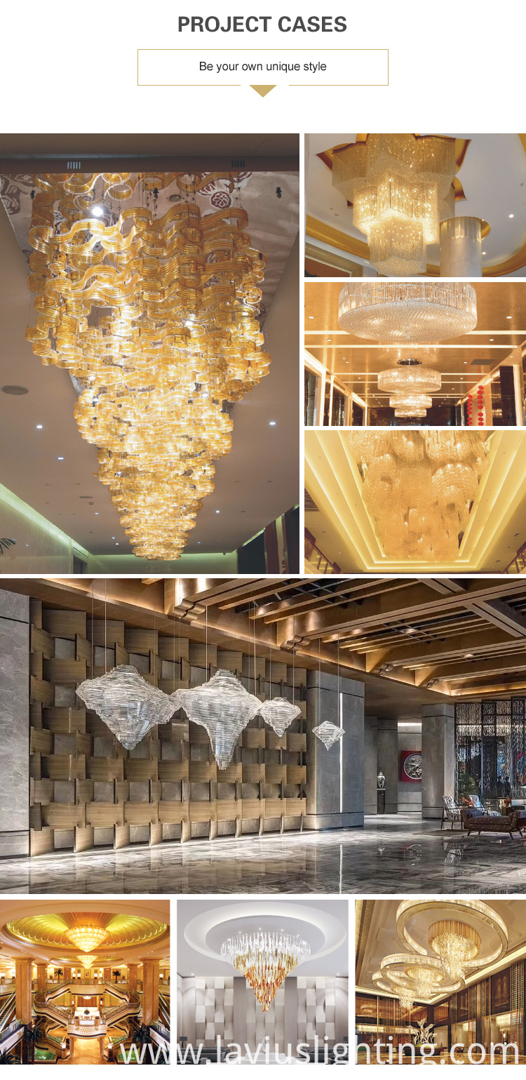 luxury large crystal chandelier light