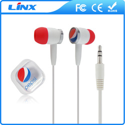 wired stereo promotional earphone