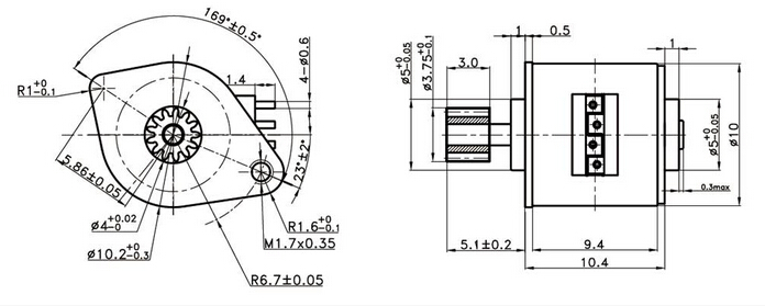 Integrated Lead Screw Stepper Motor