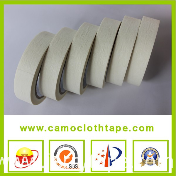 Brown creped paper masking tape