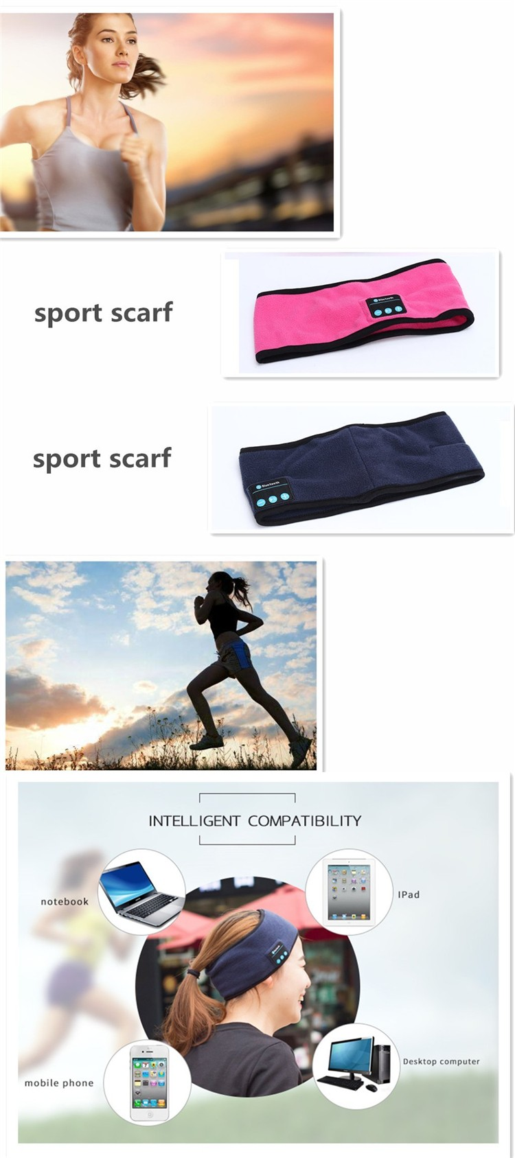 High Quality Soft-headband Sports Usage Wireless Ear Phone