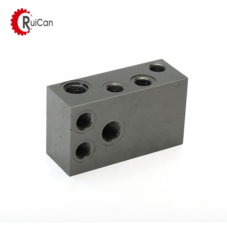 OEM customized investment casting water jet cutting pump machined parts machining brass dual threaded insert