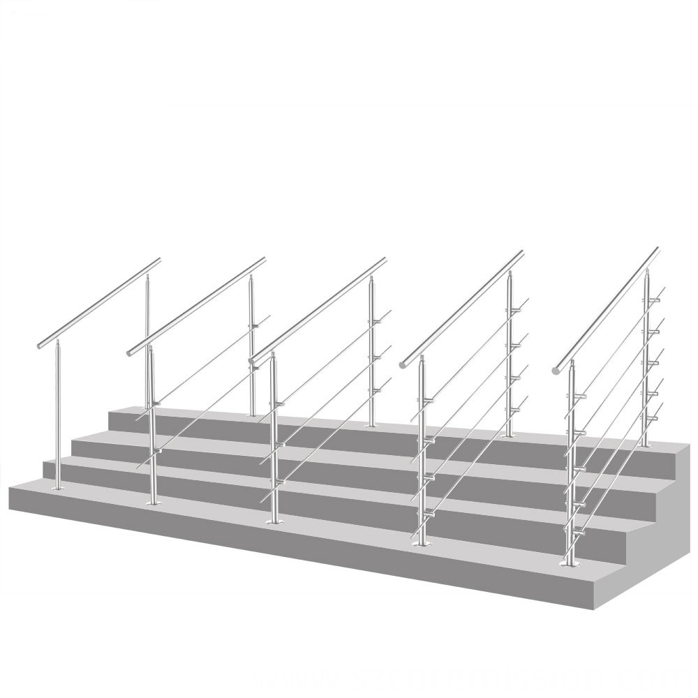 Adjustable Stainless Steel Removable Stair Handrail