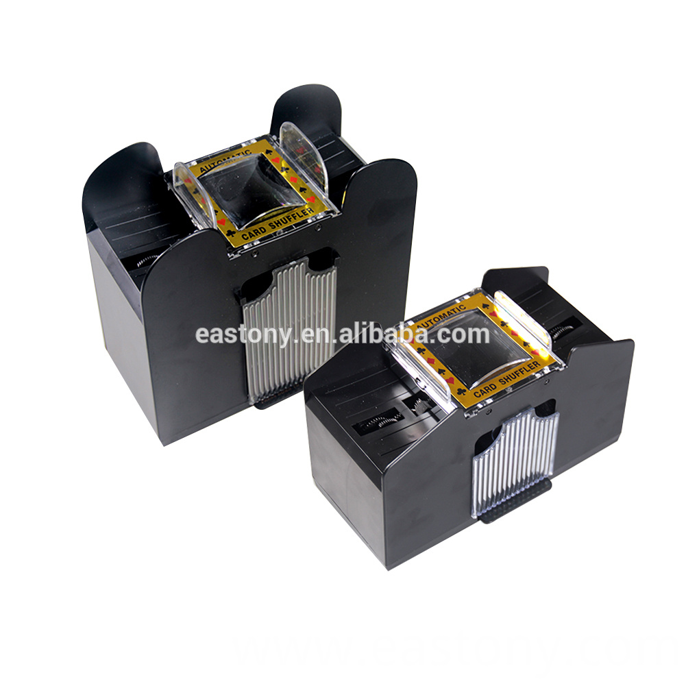 Automatic deck card shuffler