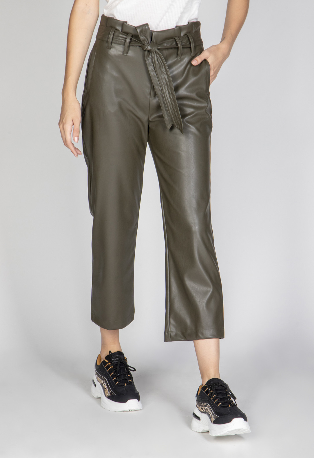 High Waist Pu Pants