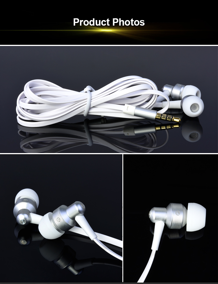 wired metal in ear gift earphone