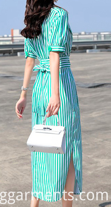 Casual Cotton Striped Dress