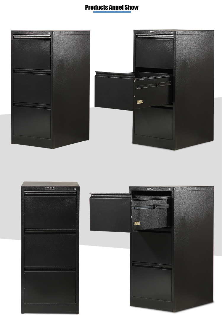 Three Tier Metal Drawer Cabinet