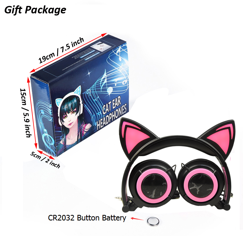 Gift package for cat ear headphone