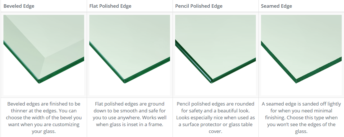 Table Top Glass Edges