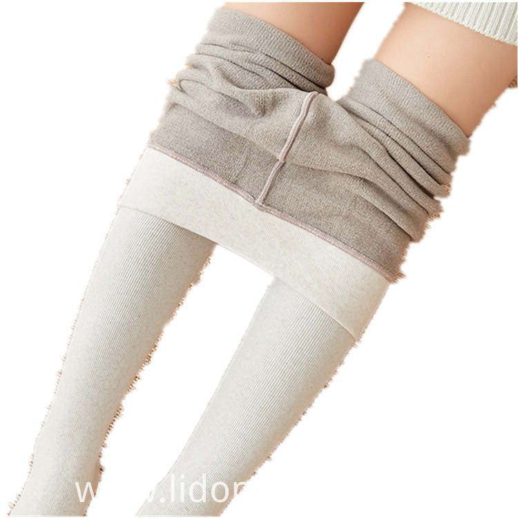 White Cotton Women's Leggings