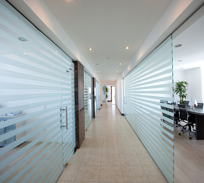 tampered office partition glass