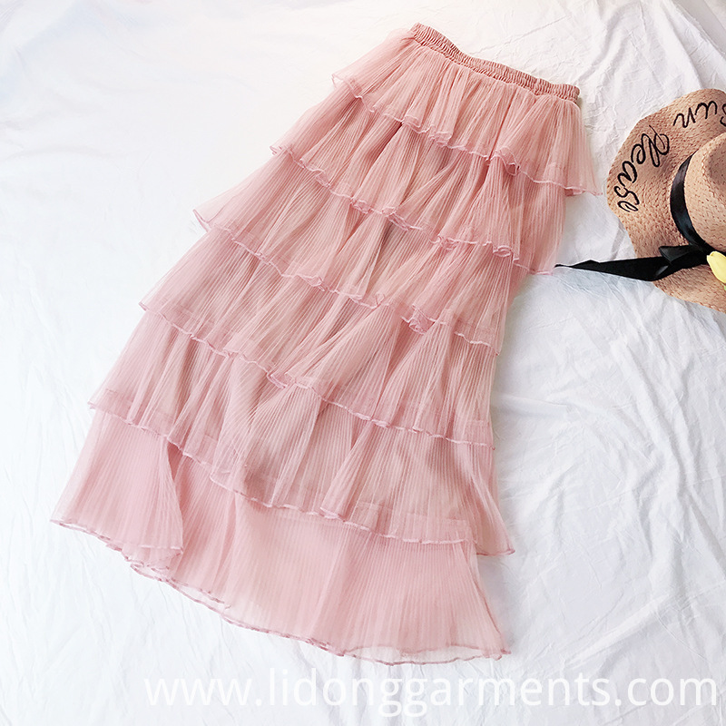 Casual Loose Princess Ruffle Tulle Skirt