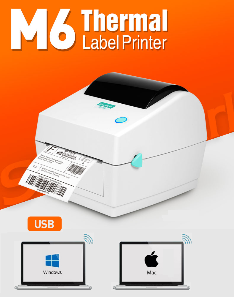 M6 shipping label printer