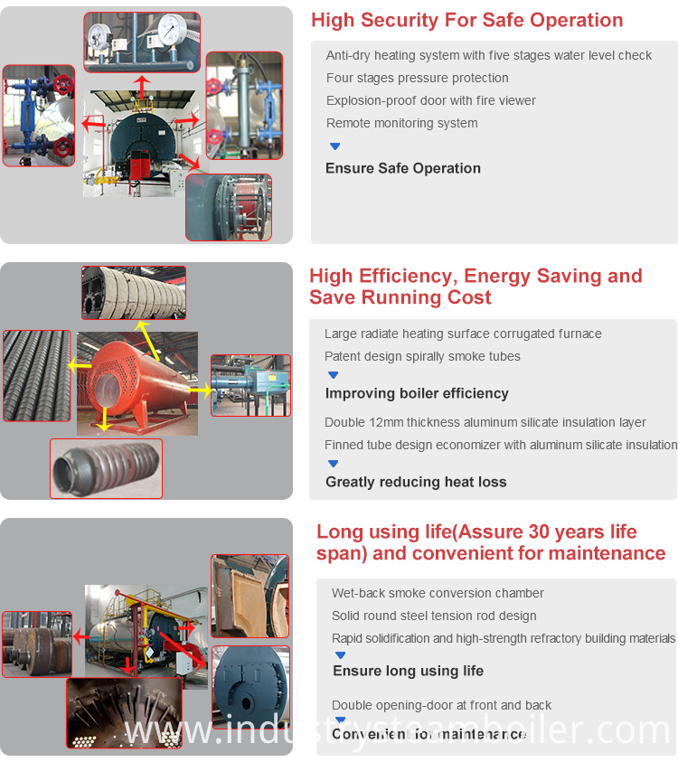 Hot Water Output Central Heating Boiler System