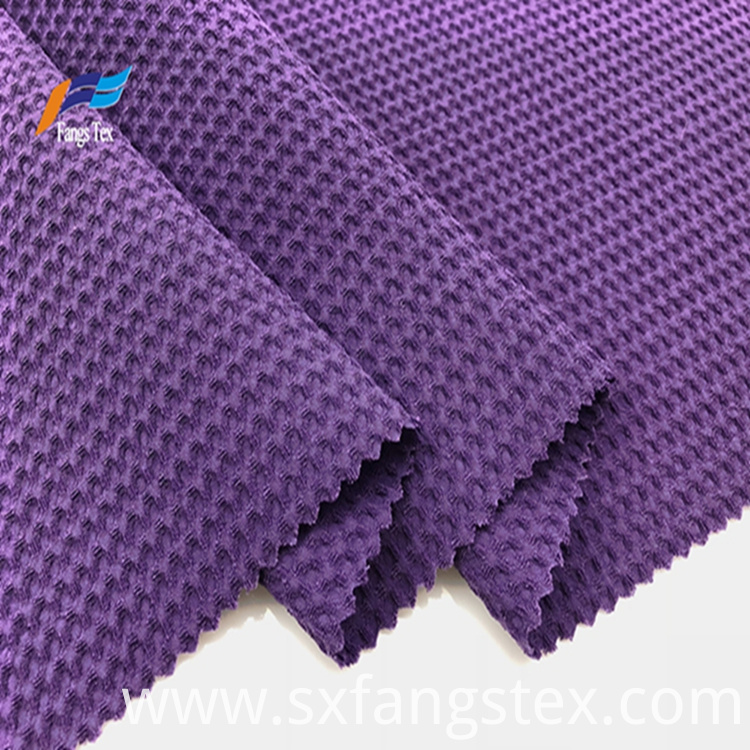100% Polyester 180D CEY Purple Bubble Jacquard Fabric 5