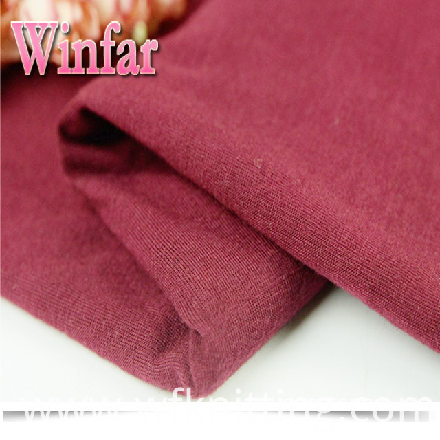 Knit Polyester Ring Spun Fabric