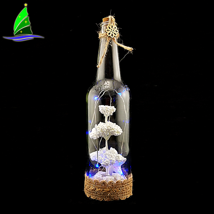 LED Bottle Lamp Glass Wine Bottle