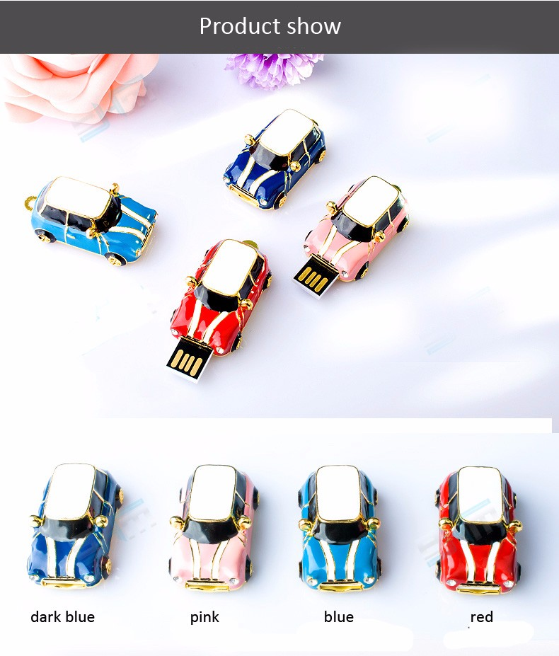 metal car usb flash drive