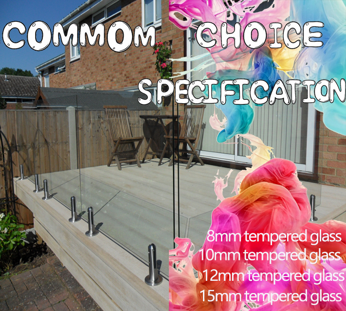 15mm Tempered Glass for Balcony Rail
