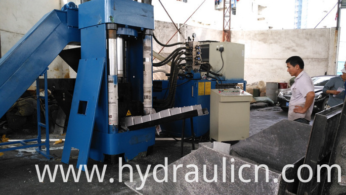 Y83L-500 Aluminum Sheet Briquette Machine with Square Block