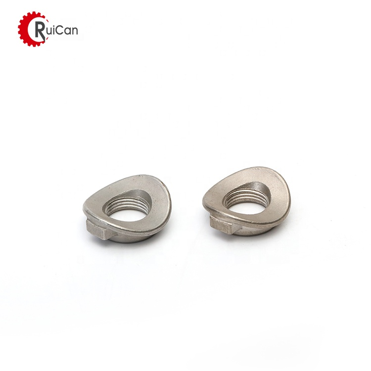 OEM customized custom stainless steel aluminum titanium process machinery parts nut with investment casting