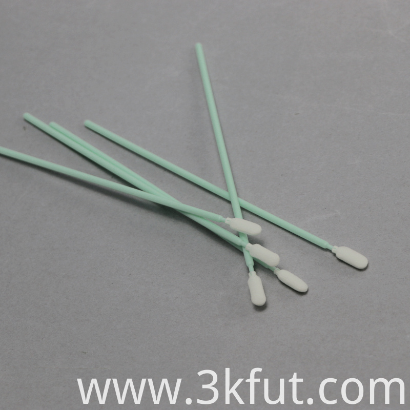 green long handle foam swabs from