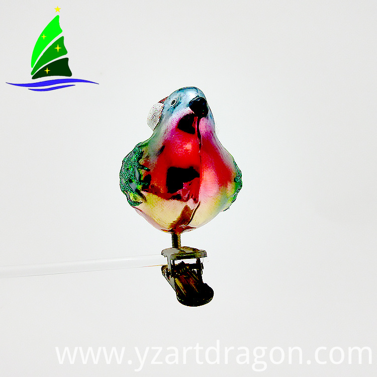 Clip-on Decoration Art Glass Ornament
