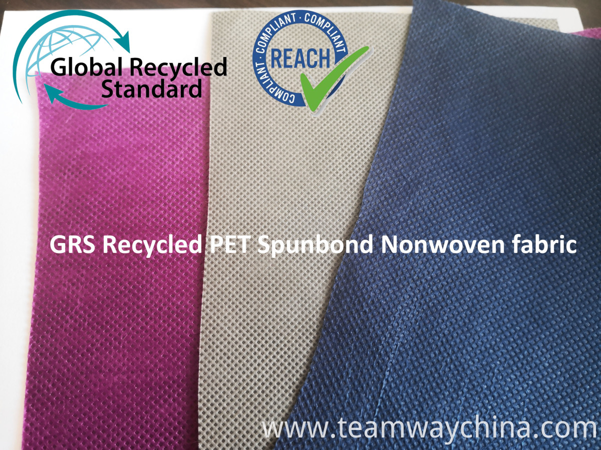 Dyed R-PET Spunbond Nonwoven Fabric