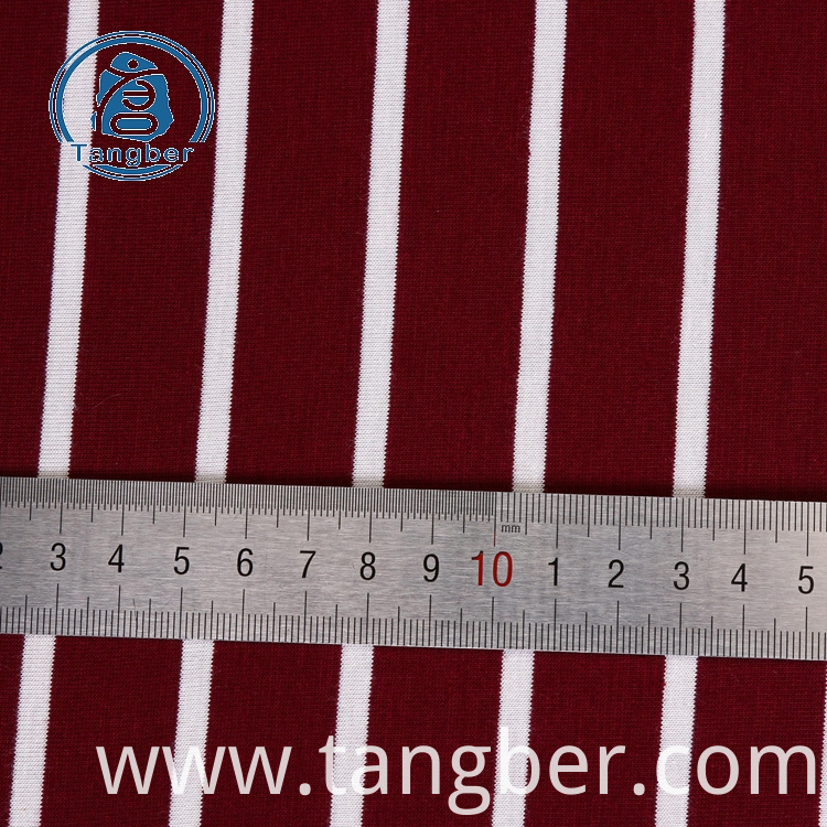 striped jersey knit fabric