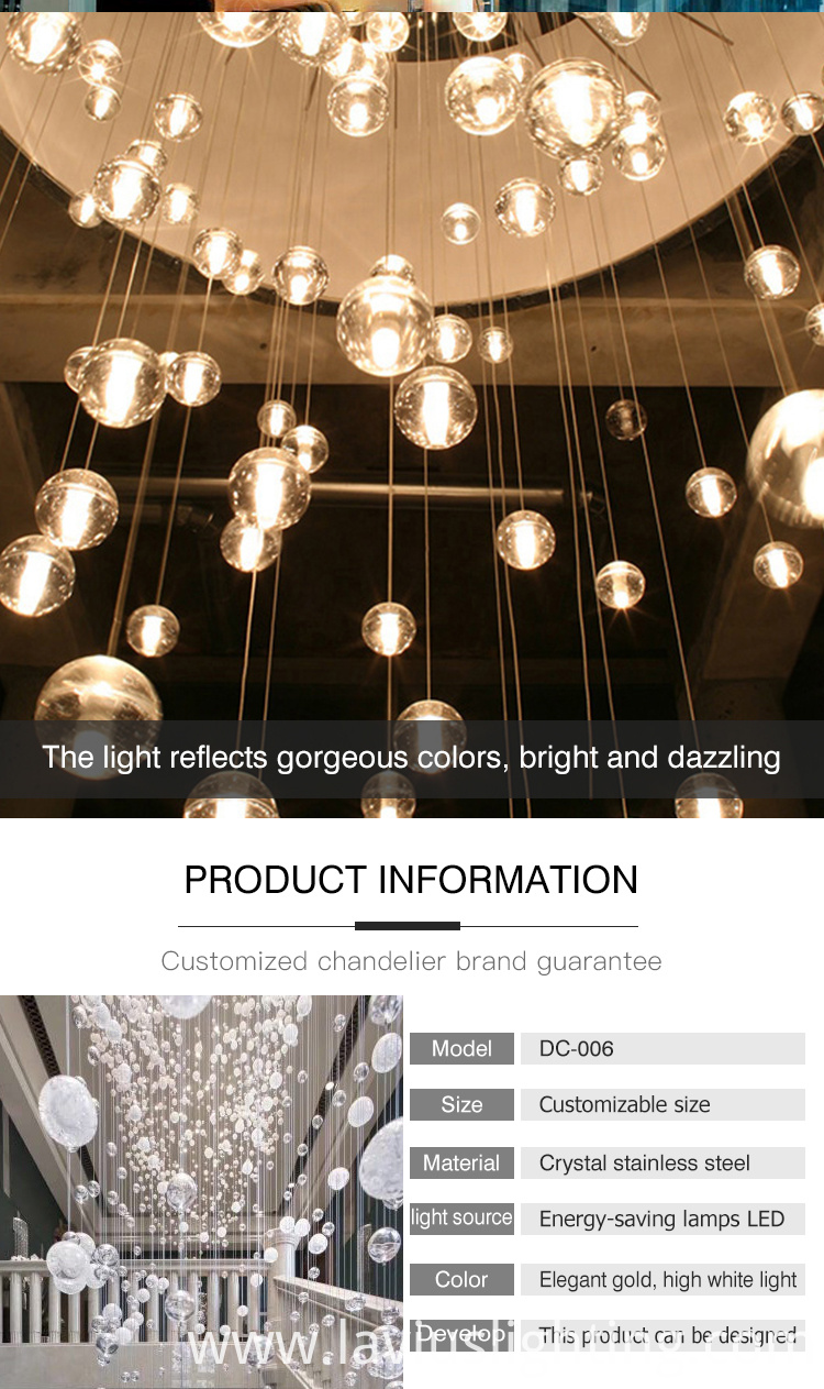 Customized Chandelier light