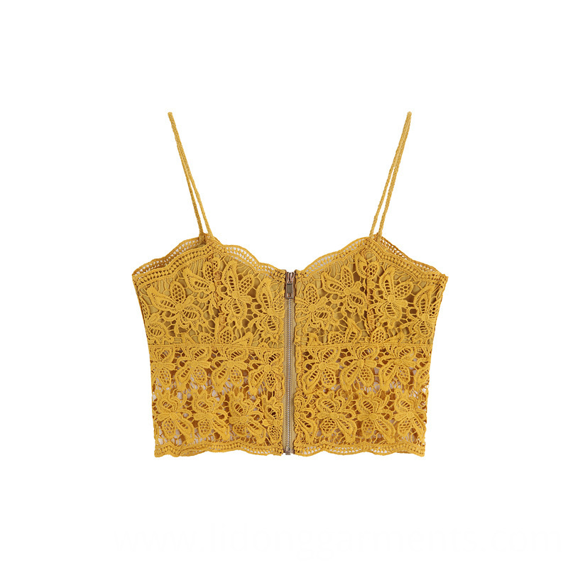 Knitted Spaghetti Strap Tank Top