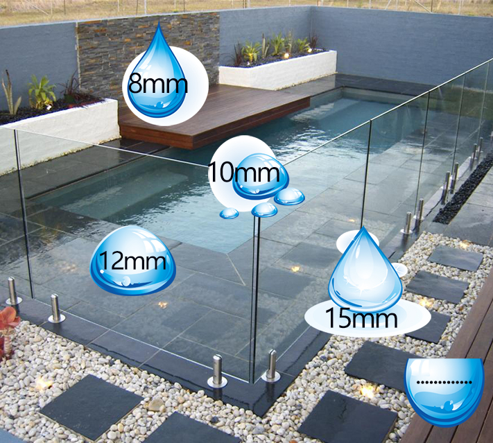 Toughened Pool Fence Glass