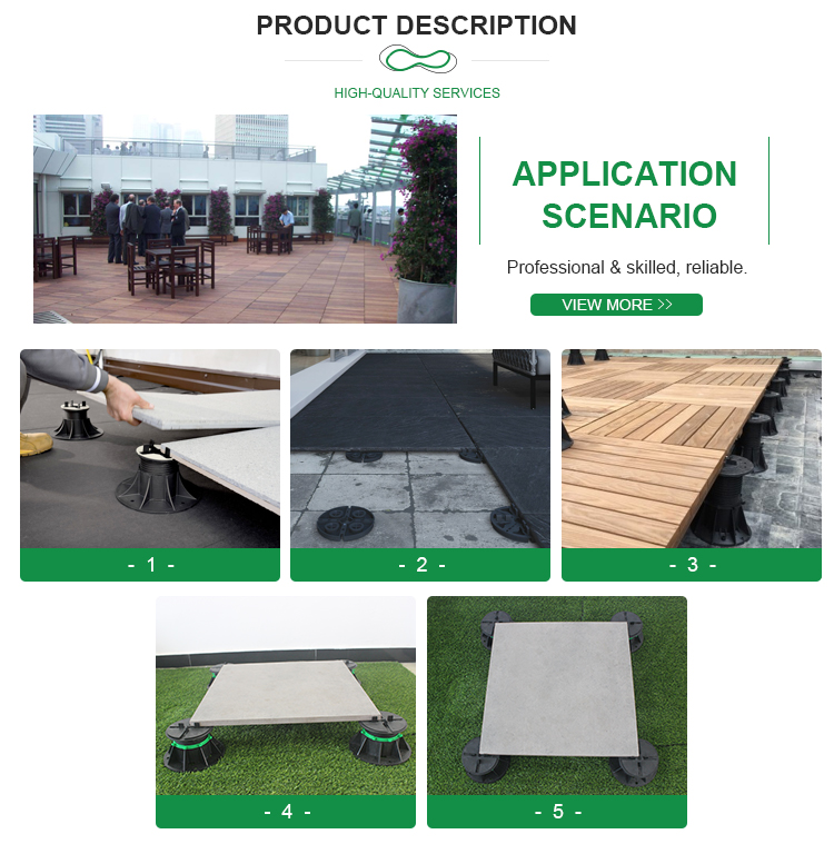 decking tiles Plastic Pedestal
