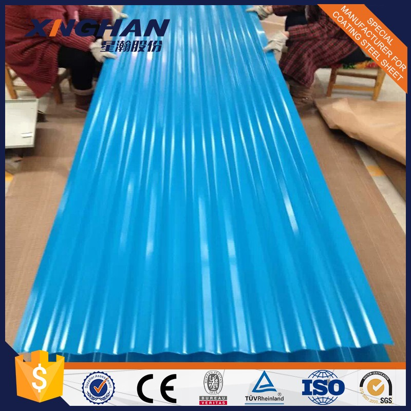 Color corrugated steel sheets