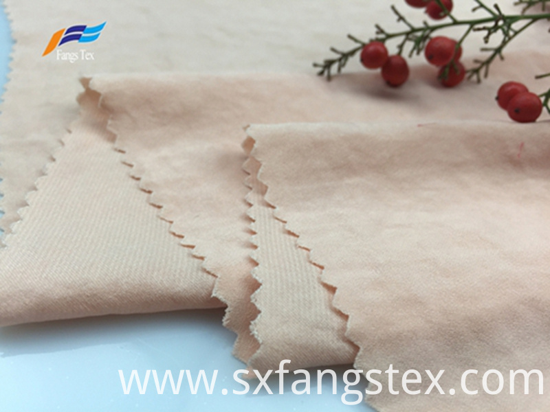 Soft Polyester Peach Skin Brushed LadiesTwill Fabric 3