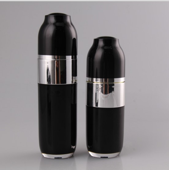 30ml black acrylic cosmetic Airless Pump Bottles
