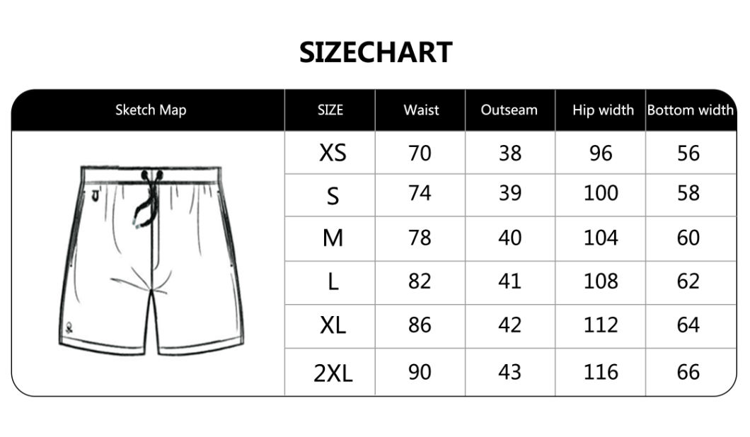 160GSM Cotton Polyester Digital Print Full Elastic Waist Brief Lining Beach Short Man's Swimshort