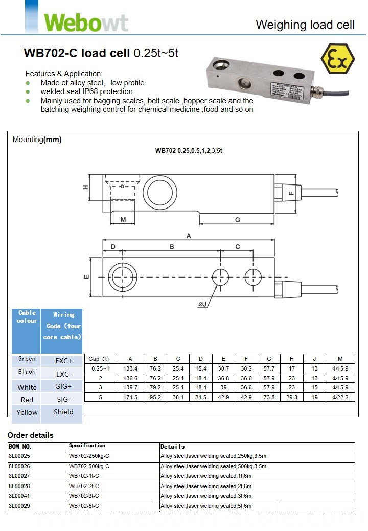 Weighing Load Cell 0.25t